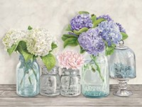 Flowers in Mason Jars (detail) Fine Art Print