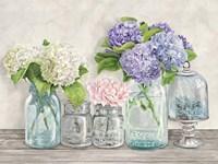Flowers in Mason Jars (detail) Fine Art Print