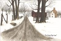 The Wintery Road Home Fine Art Print