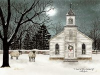 I Heard the Bells on Christmas Day  - Darker Sky Framed Print