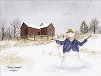 Amish Snowman Fine Art Print