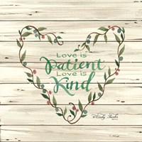 Love is Patient Heart Wreath Fine Art Print