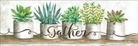 Gather Succulent Pots Fine Art Print