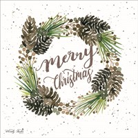 Merry Christmas Wreath Fine Art Print