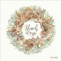 Beach Days Shell Wreath Fine Art Print