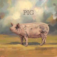 Piper the Pig Fine Art Print