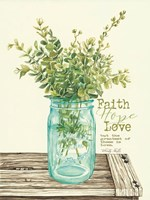 Faith, Hope, Love and Eucalyptus Fine Art Print