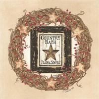 Country Bath Wreath Fine Art Print