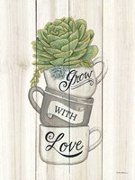 Grow with Love Succulents Fine Art Print