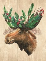 Holiday Moose Fine Art Print