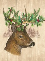 Holiday Deer Fine Art Print