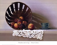 Peaches and a Cup Fine Art Print