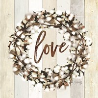 Love Cotton Wreath Fine Art Print