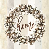 Home Cotton Wreath Fine Art Print