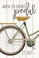 When in Doubt Pedal Framed Print