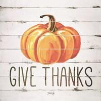 Give Thanks Pumpkin Fine Art Print