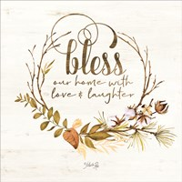 Bless Our Home Fall Foliage Fine Art Print