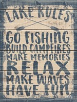 Lake Rules Fine Art Print