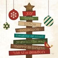 Christmas Tree Sentiments Fine Art Print