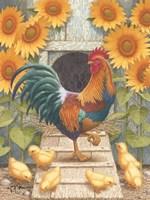 Sunflowers and Chicks Fine Art Print