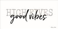 High Fives Good Vibes Framed Print