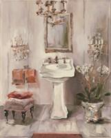 French Bath III Gray and Blush Framed Print