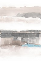 Influence of Line and Color Neutral Aqua Fine Art Print