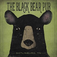 The Black Bear Pub Fine Art Print