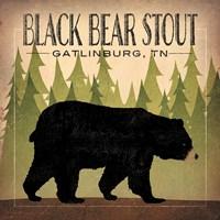 Take a Hike Bear Black Bear Stout Fine Art Print
