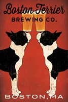 Boston Terrier Brewing Co Boston Fine Art Print
