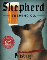 German Shepherd Brewing Co Pittsburgh Black Fine Art Print