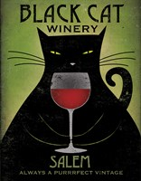 Black Cat Winery Salem Framed Print