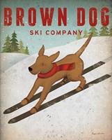 Brown Dog Ski Co Fine Art Print