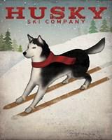 Husky Ski Co Fine Art Print