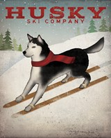 Husky Ski Co Framed Print
