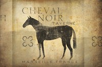 Cheval Noir v4 Fine Art Print