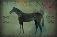 Cheval Noir v1 Fine Art Print
