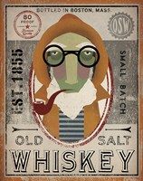 Fisherman II Old Salt Whiskey Fine Art Print
