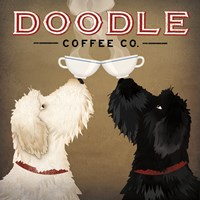 Doodle Coffee Double IV Framed Print