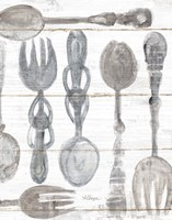 Spoons and Forks III Neutral Fine Art Print