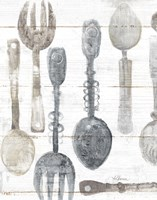 Spoons and Forks II Neutral Fine Art Print