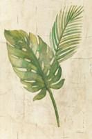 Tropical Leaves Neutral Fine Art Print