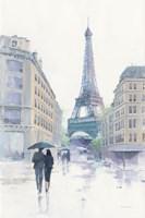 Walking in the Rain Fine Art Print