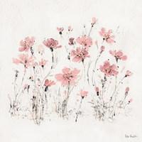 Wildflowers III Pink Fine Art Print
