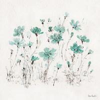 Wildflowers III Turquoise Fine Art Print