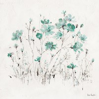 Wildflowers II Turquoise Fine Art Print