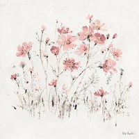 Wildflowers II Pink Fine Art Print