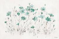 Wildflowers I Turquoise Fine Art Print