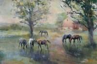 Daybreak on the Farm Crop II Fine Art Print