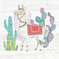 Lovely Llamas V Fine Art Print